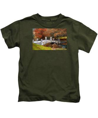 The Bridge To Autumn By Mike Hope Kids T-Shirt