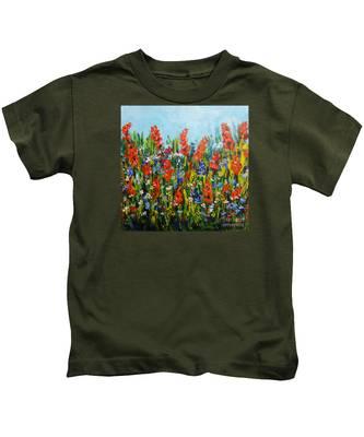 Through The Wild Flowers Kids T-Shirt