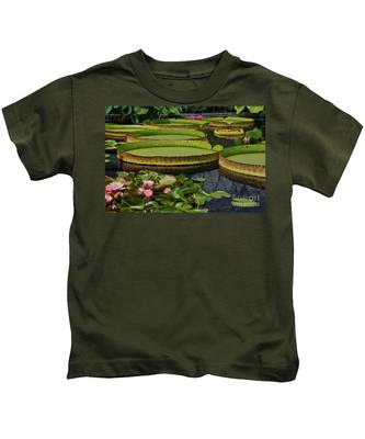 Waterlilies North And South Kids T-Shirt
