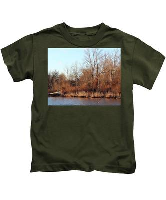 Northeast River Banks Kids T-Shirt