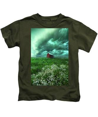 When The Thunder Rolls Kids T-Shirt