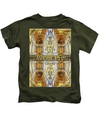 Worth Lining Up For Versailles Palace Chapel Paris Kids T-Shirt