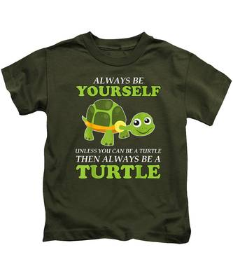 Always Be Yourself Turtle Green Toddler T-Shirt