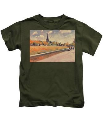 Autumn Along The Griend Kids T-Shirt