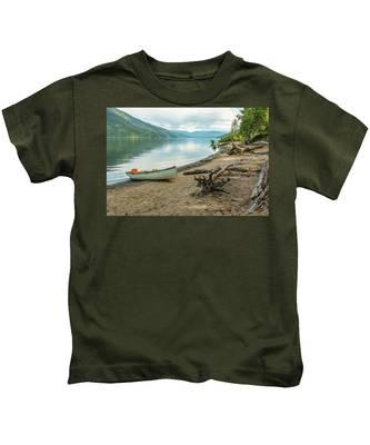 Canoe At Mable Lake Kids T-Shirt