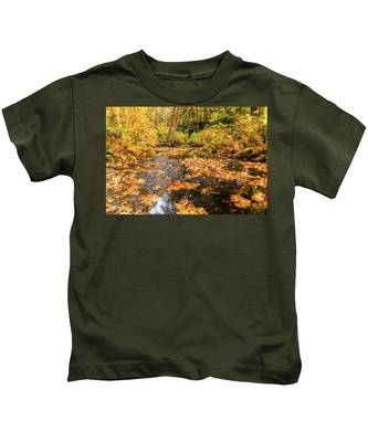 Colours Of Fall Kids T-Shirt