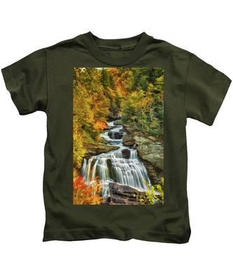 Cullasaja Falls Kids T-Shirt