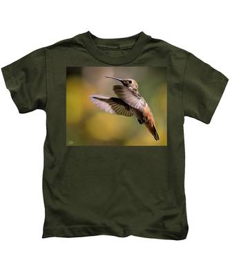 Kids T-Shirt featuring the photograph Hummer 4 by Endre Balogh