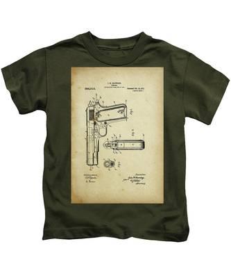 M1911 Browning Pistol Patent Kids T-Shirt