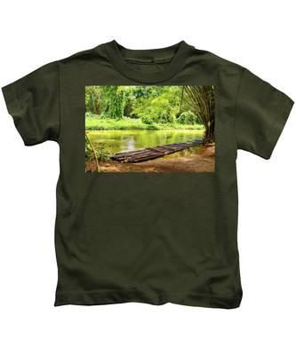 Martha Brae River Bamboo Rafting Kids T-Shirt