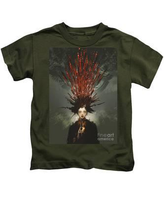 Prey With A Gun Kids T-Shirt