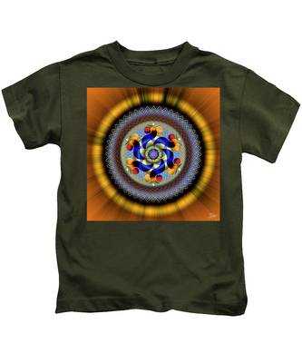 Kids T-Shirt featuring the digital art Sacred Geometry 740 Number 1 by Endre Balogh