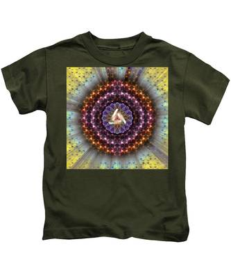 Kids T-Shirt featuring the digital art Sacred Geometry 742 by Endre Balogh