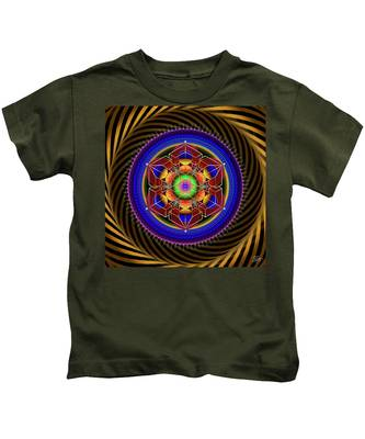 Kids T-Shirt featuring the digital art Sacred Geometry 763 by Endre Balogh