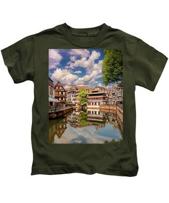 Kids T-Shirt featuring the photograph Strasbourg Center by Endre Balogh