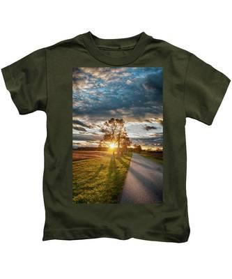Sunset On The Field Kids T-Shirt