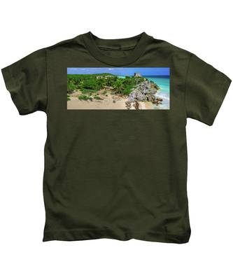 The Temple By The Sea Kids T-Shirt