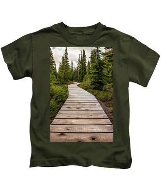 Wooden Walkway Kids T-Shirt