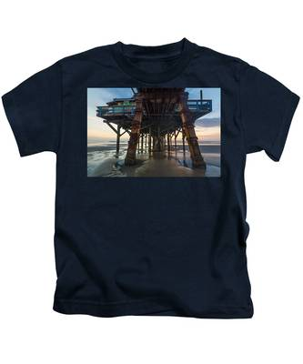Daytona Beach Shores Pier Kids T-Shirt