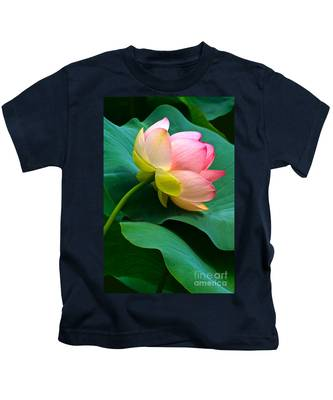 Lotus Blossom And Leaves Kids T-Shirt