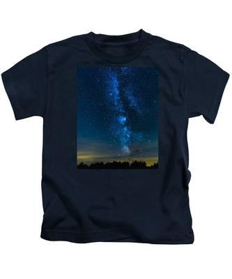 Milky Way Cherry Springs Kids T-Shirt