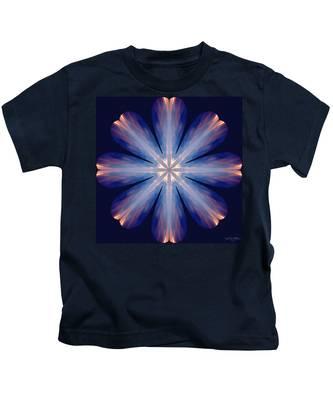 Kids T-Shirt featuring the digital art Nature's Mandala 54 by Derek Gedney