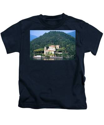 Palace At Lake Como Italy Kids T-Shirt
