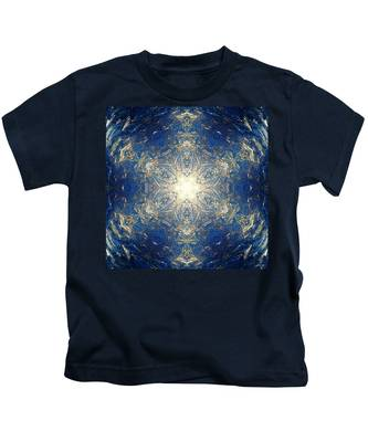 Kids T-Shirt featuring the photograph Reflective Ice I by Derek Gedney