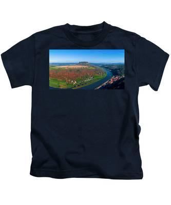 The Elbe Around The Lilienstein Kids T-Shirt