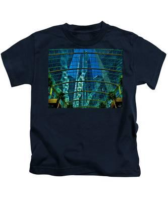 Atrium Gm Building Detroit Kids T-Shirt