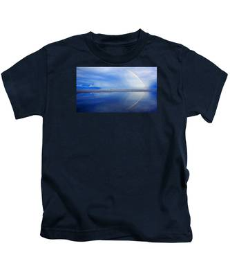 Beach Rainbow Reflection Kids T-Shirt
