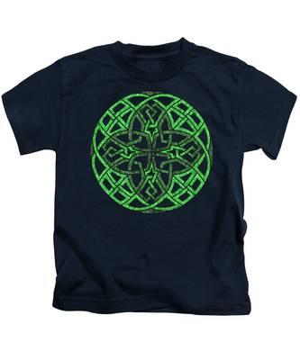 Celtic Clover Mandala Kids T-Shirt
