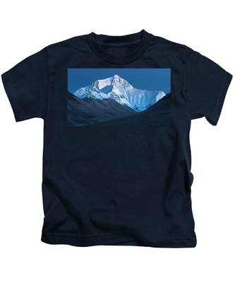 Mount Everest At Blue Hour, Rongbuk, 2007 Kids T-Shirt