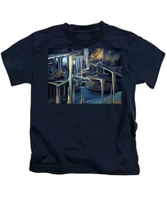 Mural Ice Monks In November Kids T-Shirt