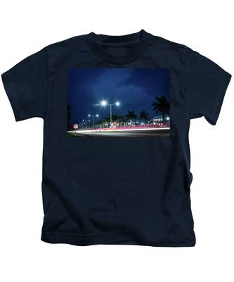 Night Lights In Montego Bay City Kids T-Shirt