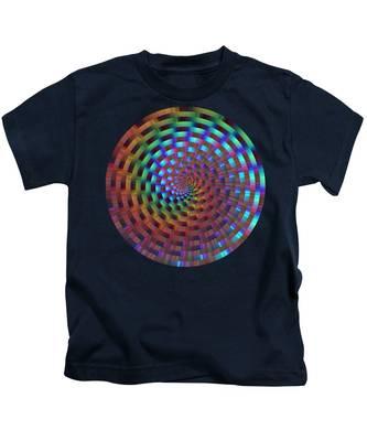 Rainbow Rings Spiral Kids T-Shirt