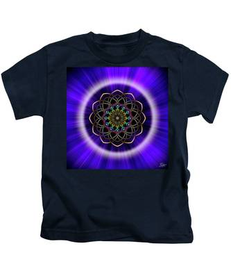 Sacred Geometry 242 Kids T-Shirt by Endre Balogh