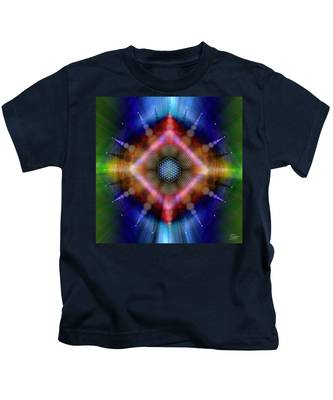 Kids T-Shirt featuring the digital art Sacred Geometry 645 by Endre Balogh