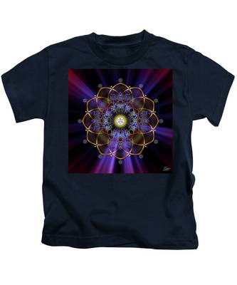 Kids T-Shirt featuring the digital art Sacred Geometry 647 by Endre Balogh