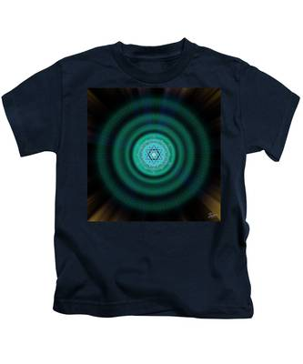 Kids T-Shirt featuring the photograph Sacred Geometry 651 by Endre Balogh