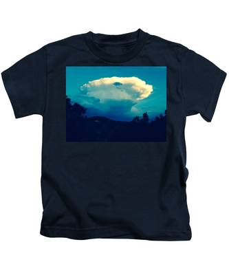 Storm Over Santa Fe Kids T-Shirt