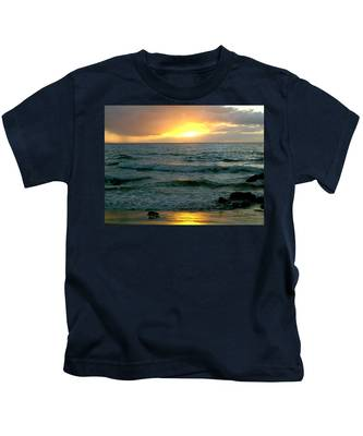 Sunset In Paradise Kids T-Shirt