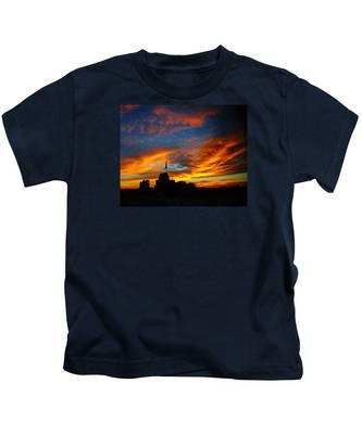 Sunset Ybor City Tampa Florida Kids T-Shirt