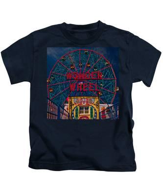 The Wonder Wheel At Luna Park Kids T-Shirt