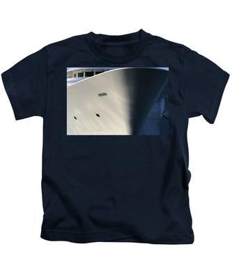 Bow Of Mega Yacht Kids T-Shirt