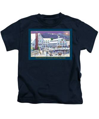 Waterville Valley At Wintertime Kids T-Shirt