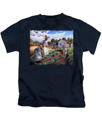 Vegetable Gardens Kids T-Shirts