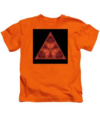 Copper Triangle Abstract Kids T-Shirt