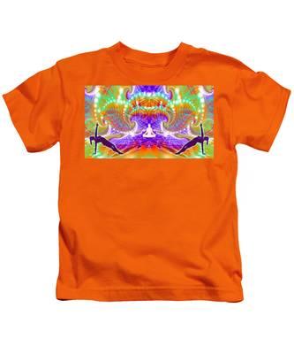 Kids T-Shirt featuring the digital art Cosmic Spiral Ascension 60 by Derek Gedney