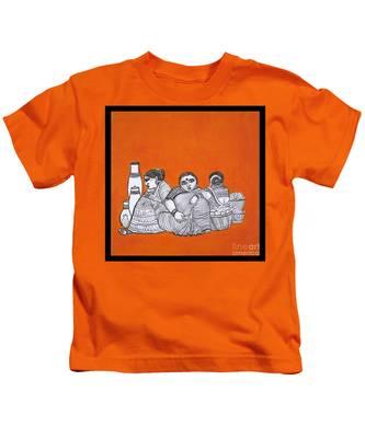 Women Vendors In Market Kids T-Shirt